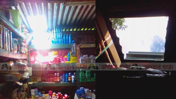 ঈশ্বরগঞ্জে ৭ দোকানে টিনের চালা কেটে দুর্ধর্ষ চুরি