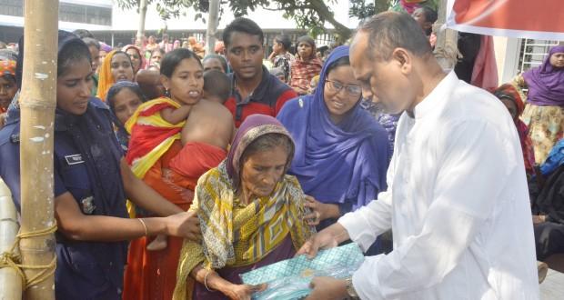 বাগমারায় ১৫ হাজার নারী পেলো এমপি এনামুল হকের ঈদ উপহার