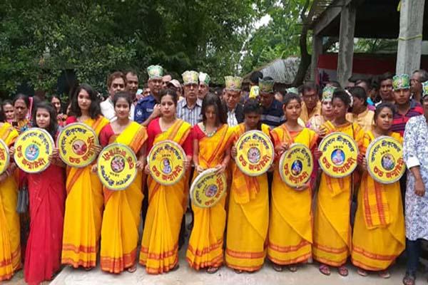 গোবিন্দগঞ্জ মঙ্গল শোভাযাত্রা অনুষ্ঠিত