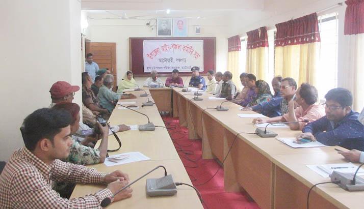 আটোয়ারীতে উপজেলা আইন-শৃঙ্খলা কমিটির মাসিক সভা