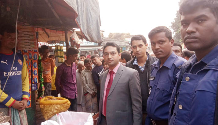 গোদাগাড়ীতে ভ্রাম্যমান আদালতে দুই মুদি দোকানে জরিমানা