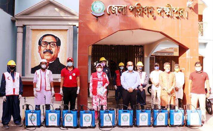 লক্ষ্মীপুর জেলা পরিষদের জীবাণুনাশক স্প্রে