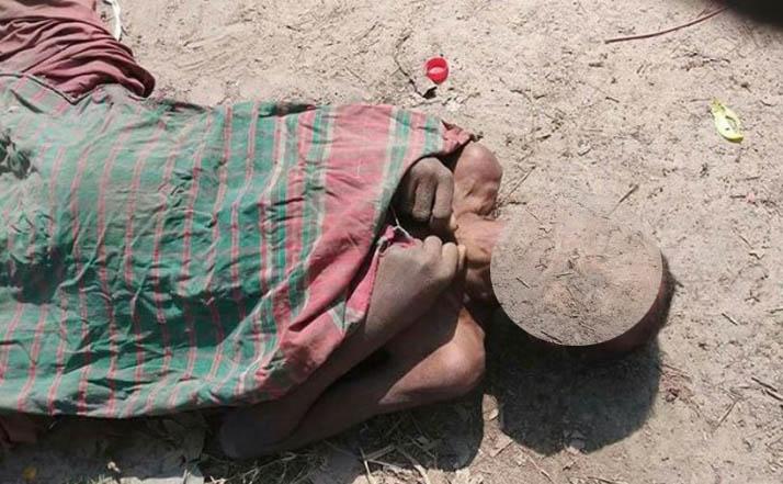 রাস্তায় অজ্ঞাত বৃদ্ধার লাশ, করোনা আতঙ্কে কাছে যায়নি কেউ