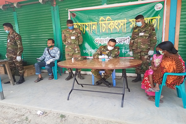 আটোয়ারীতে সেনা বাহিনীর ফ্রি স্বাস্থ্য সহায়তা ক্যাম্প অনুষ্ঠিত